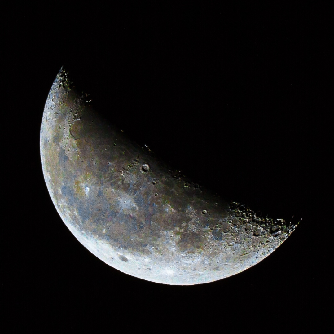Waning Half-Crescent Color