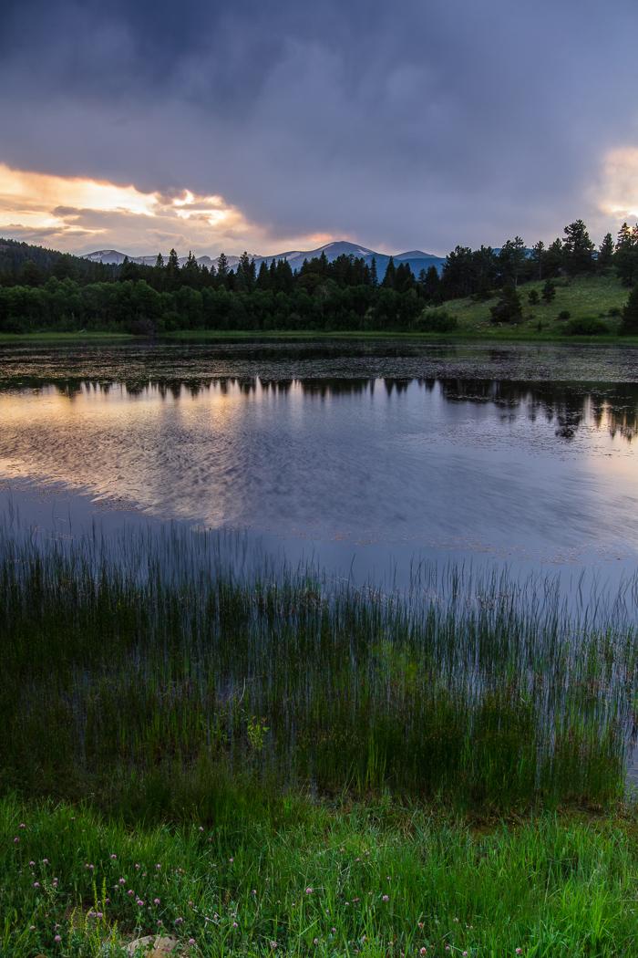 Sunset at Rock Lake