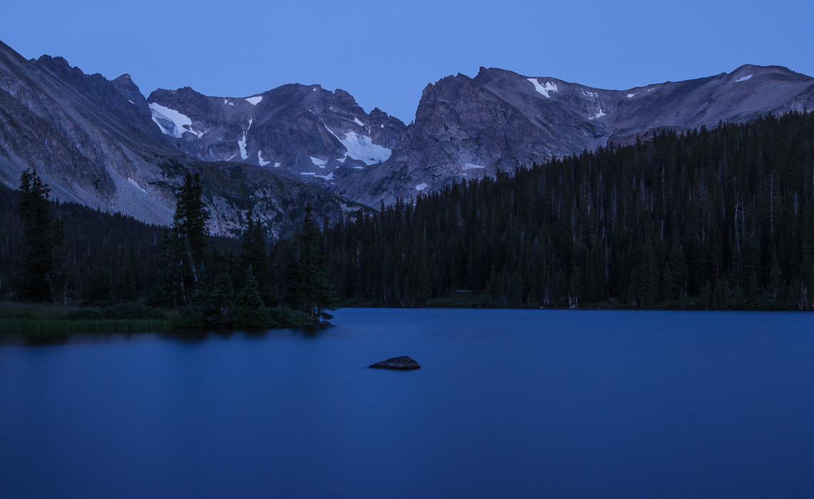 Indian Peaks over Long Lake (1 of 2)