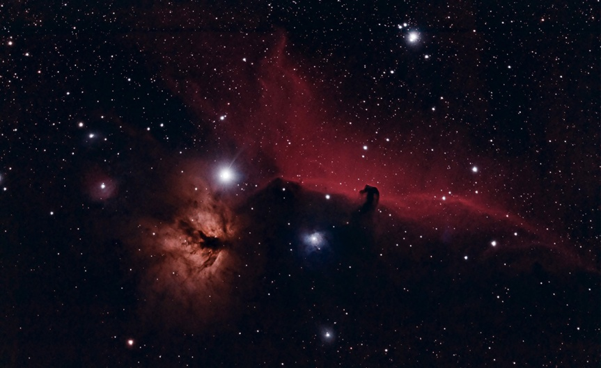 Horse Head and Flame Nebulas