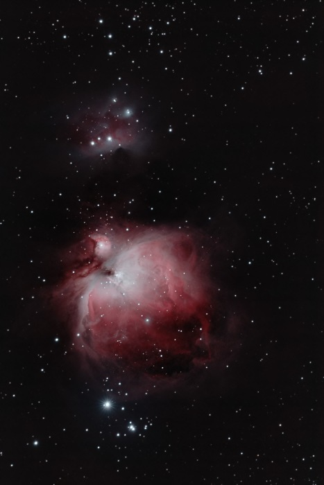 Orion Nebula and Running Man - Original Color
