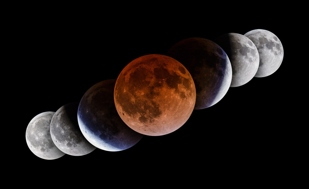 Total Lunar Eclipse April 2014 - Short Sequence
