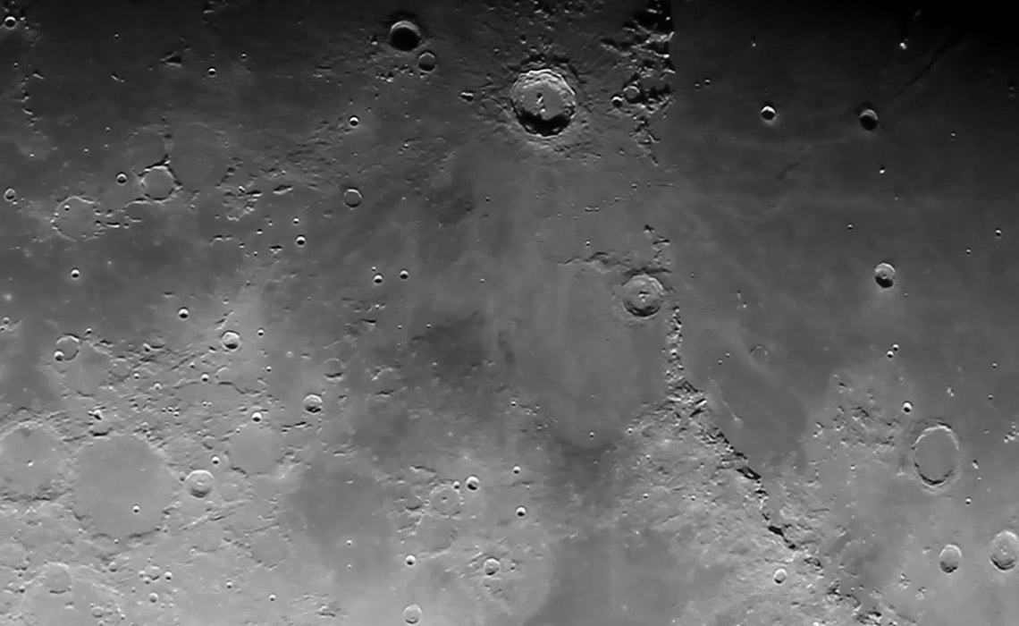 Moon Craters, Mountains, Mares - Wide - 1