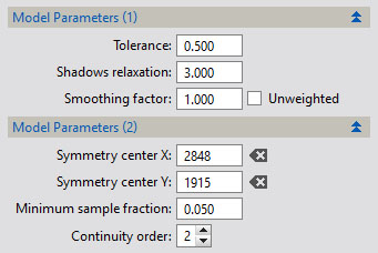 DBE-model-parameters